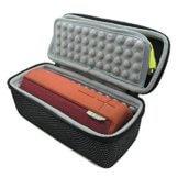 für Logitech Ultimate Ears UE BOOM Bluetooth Wireless Mobile Speaker Lautsprecher EVA stoßfest Reise tragen Fall Haut Tasche Case Box Schwarz+Silber -