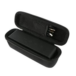 Khanka Hart EVA Reise tragen Fall Tasche Case Für Anker SoundCore / Anker SoundCore 2 Wireless Portabel Stereo Mobiler Bluetooth 4.0 Lautsprecher Speaker. Netztasche für die Kabel - Schwarz -