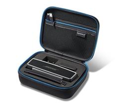 Supremery Bose SoundLink Mini II / Mini Bluetooth Lautsprecher Case Hülle EVA Reisetasche mit Netztasche, Reißverschluss und Tragegriff - Wasserabweisend in Schwarz-Blau -