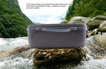 Supremery Bose SoundLink Revolve + Plus Bluetooth Lautsprecher Case Hülle EVA Reisetasche mit Tragegriff - Wasserabweisend in Schwarz-Blau -