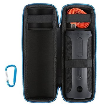 Scorel JBL Flip 4 Tasche EVA Staubdicht Hard Tragetasche für JBL Flip 4 (Schwarz) -