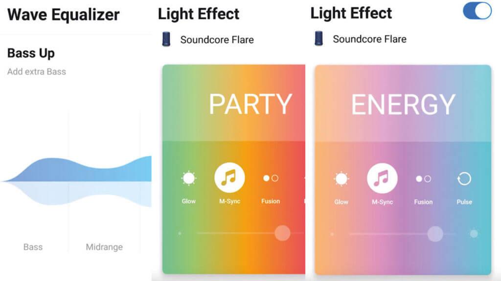 Anker Soundcore Flare App Einstellungen