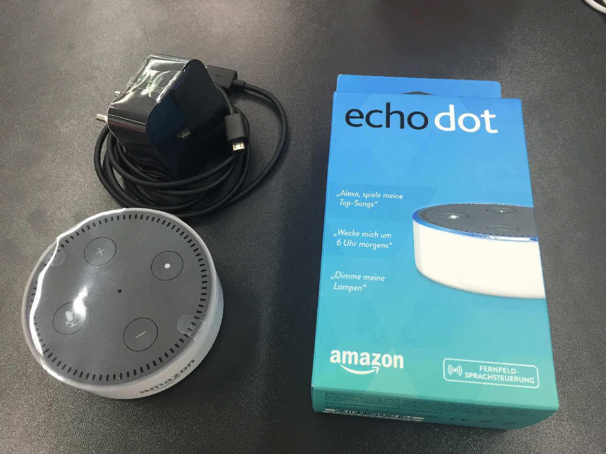 Amazon Echo Dot 2 Lieferumfang