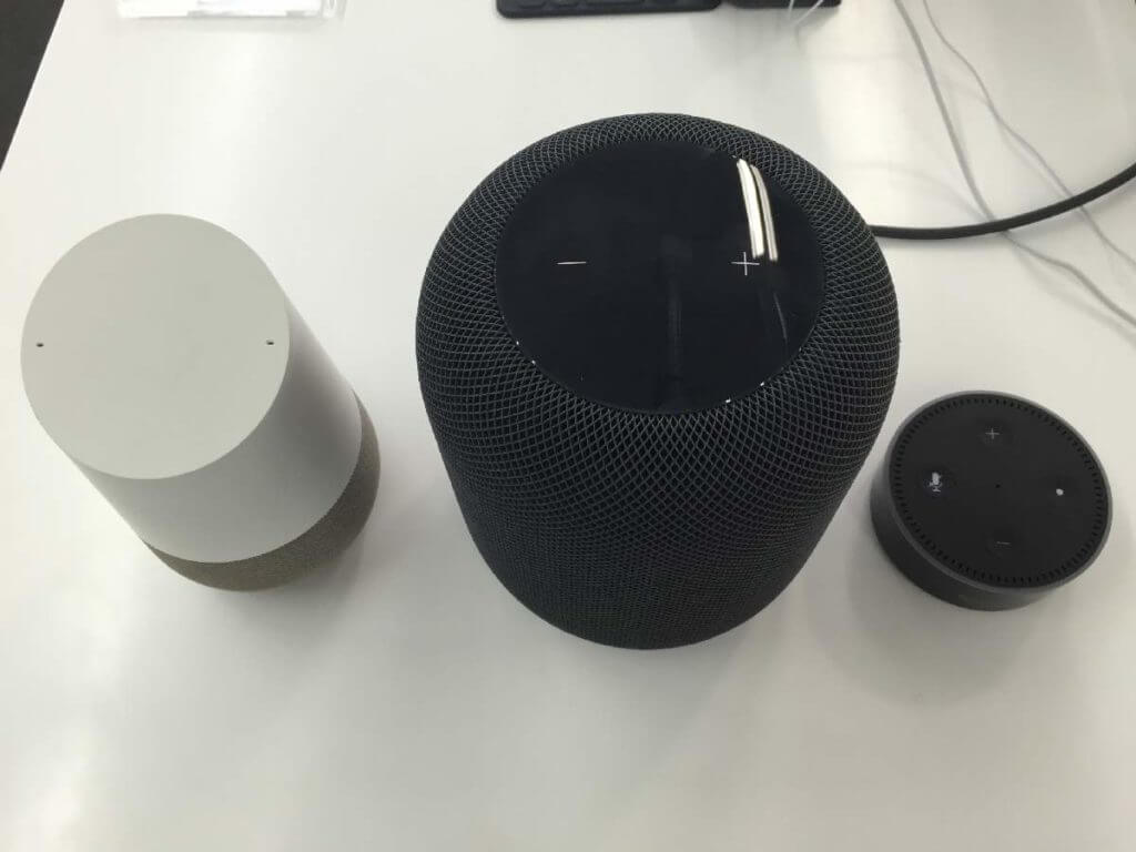 Google Home vs. Apple HomePod vs. Amazon Echo Dot