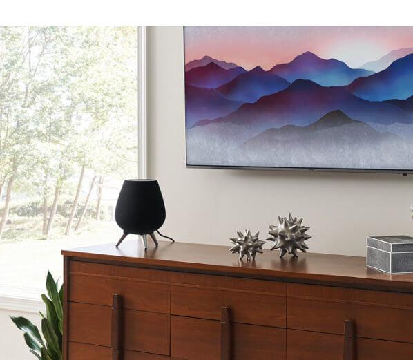 Der neue intelligente Lautsprecher von Samsung mit Bixby (Bildquelle Samsung)