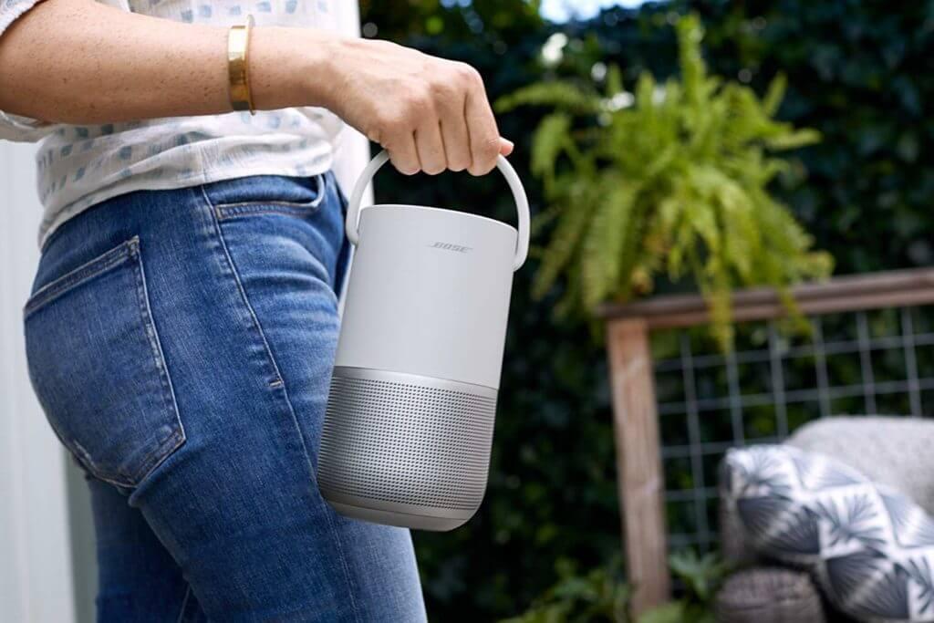 Bose Portable Home Speaker – mit integrierter Alexa-Sprachsteuerung, in Silber