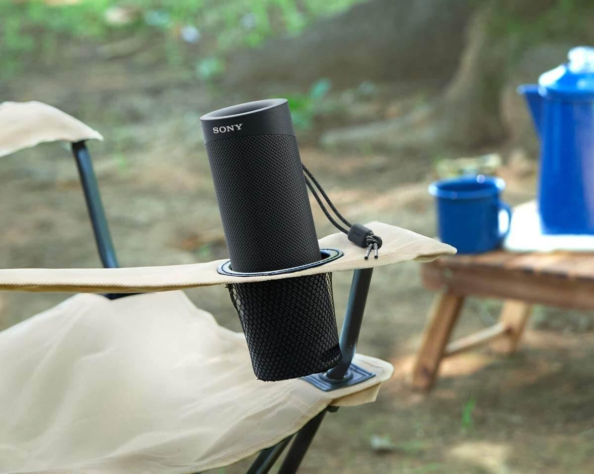 Sony SRS-XB23 tragbarer bluetooth Lautsprecher in schwarz