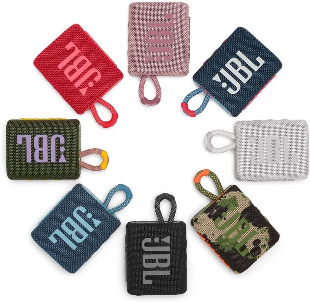JBL GO 3 erhältlich in 8 verschiedenen Farben