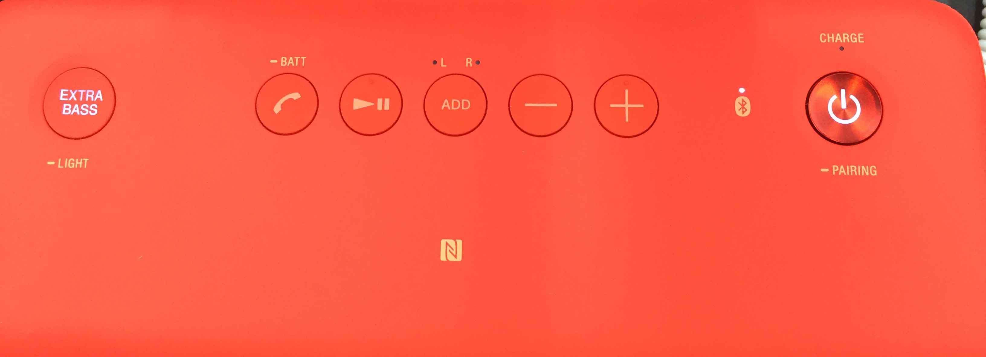 Sony SRS-XB 30 Bedienfeld