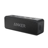 Anker SoundCore 2 Bluetooth Lautsprecher mit Kraftvollem Bass, 24 Stunden Spielzeit, 20 Meter Reichweite, IPX5 Wasserfest mit Eingebauten Mikrofon, Dualen Basstreibern, Kabelloser Lautsprecher für iPhone, Samsung und mehr. -