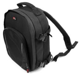 Geräumiger schwarzer Rucksack für Sony SRS-XB10, XDR-P1DBP, SRS-ZR5, SRS-XB30, SRS-XB-10, SRS-XB-20, SRS-XB-30 und SRS-XB-40 tragbare Lautsprecher -
