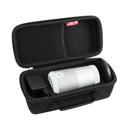 Hard EVA Travel Case für Bose SoundLink Revolve Bluetooth Lautsprecher schwarz von Hermitshell -