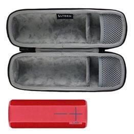 LTGEM EVA Hart Fall Reise Tragen Tasche für Ultimate Ears UE BOOM 2/UE BOOM tragbarer Bluetooth Lautsprecher .Passt USB-Kabel und Wand Ladegerät. -
