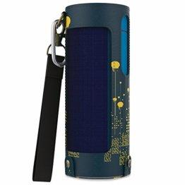 MoKo UE Boom 2 / UE Boom Lautsprecher Hülle Abdeckung, Premium Kunstleder Schutzhülle Tasche Case mit Handschlaufe / Karabiner für UE Boom 2 / UE Boom 1 Bluetooth Wireless Speaker, Nachtlicht -