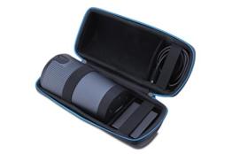 Supremery Bose SoundLink Revolve Bluetooth Lautsprecher Case Hülle EVA Reisetasche mit Tragegriff - Wasserabweisend in Schwarz-Blau (nicht passend für Revolve + Plus) -