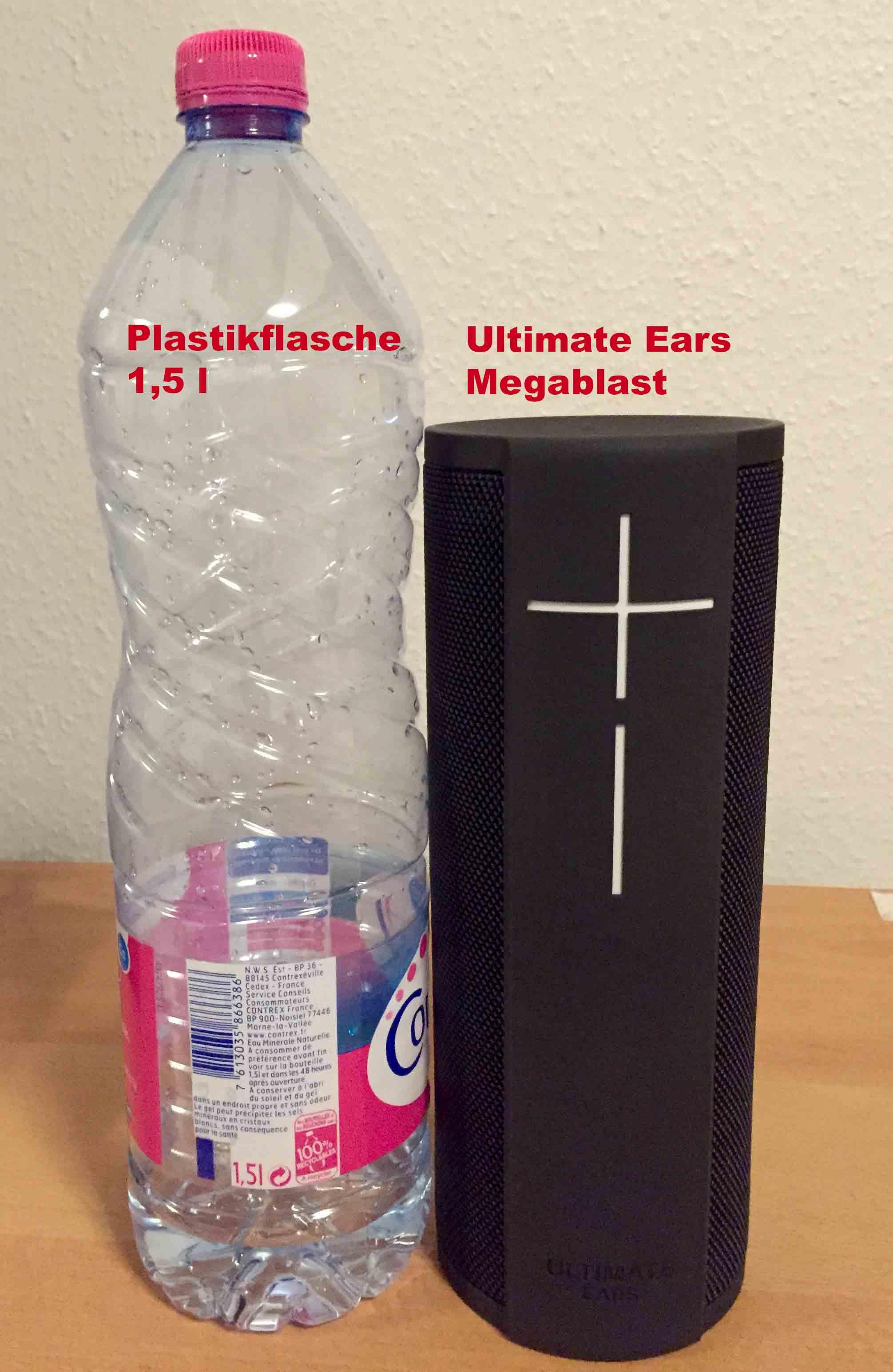 Ultimate Ears Megablast Grössen Vergleich
